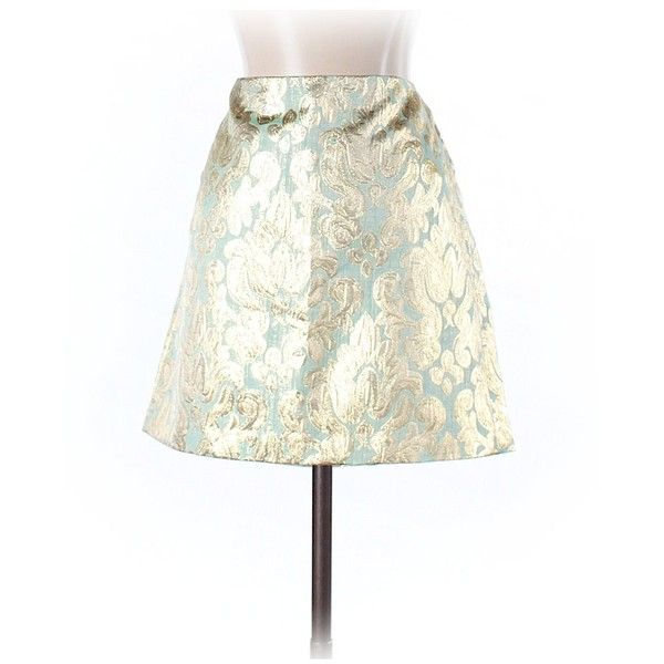 J. Crew Factory Store Casual Skirt (€14) ❤ liked on Polyvore featuring skirts, light green, white skirt, light green skirt and j crew skirts