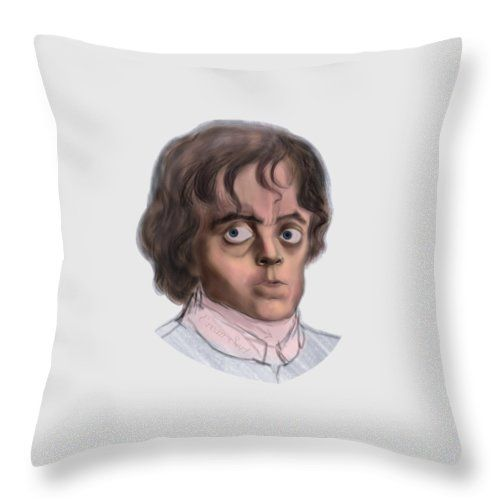 Tyrion Throw Pillow featuring the painting Tyrion by Erjan Sert