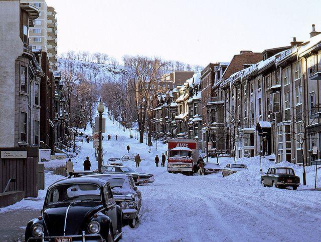 Peel - février1972, Montréal.