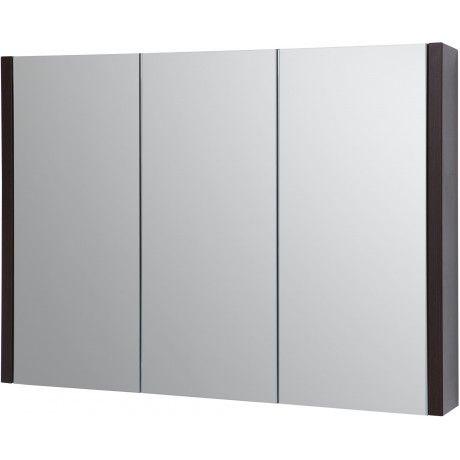 Albero Design Trento Spiegelschrank, Eiche Schwarz   90 X 65cm