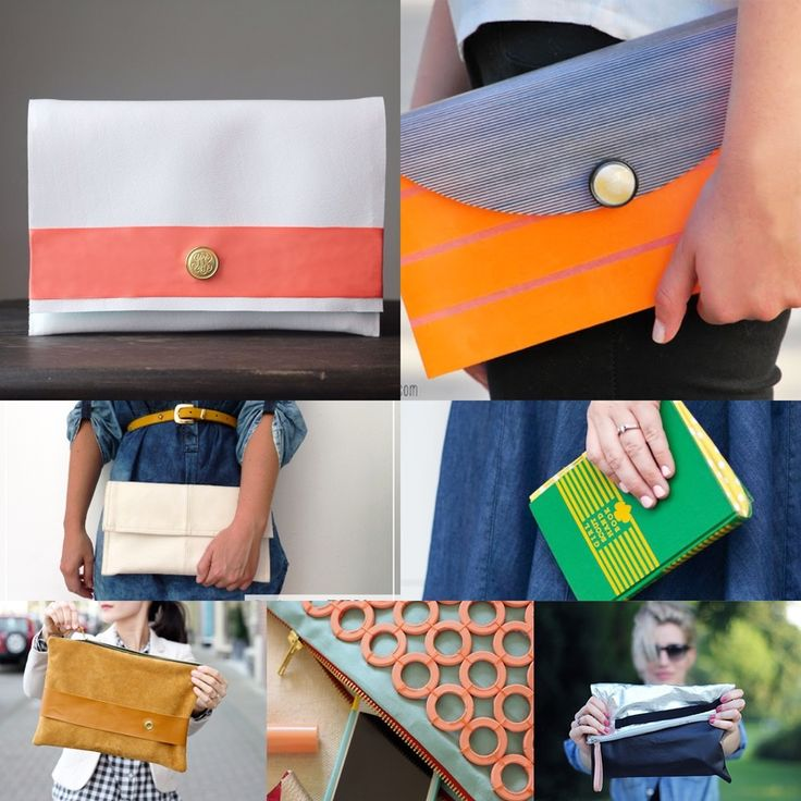 7 DIY Clutch Tutorials at http://www.babybugjournals.com/7-diy-clutch-tutorials.html