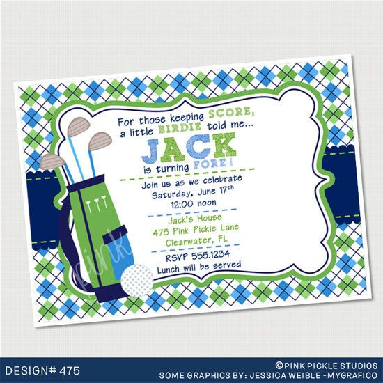 Golf Birthday Party Invitations personalized by PinkPickleParties, $10.00