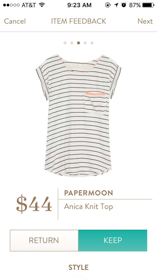 WANT!!  Would love to add a black and white tee to my wardrobe.  A staple that my closet is currently lacking:)