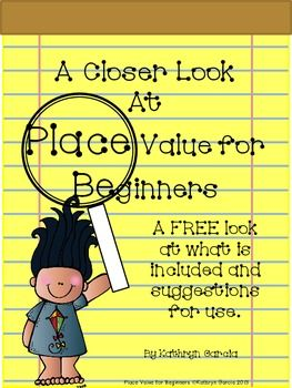 Do you want to know more about the products in the Place Value for Beginners series? Here is a FREE download for you to take a closer look and see if this series will fit the needs of your children.