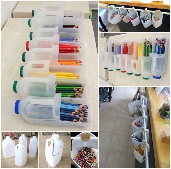 Milk Jugs Got Recycled into These Wonderful Pencil Organizers