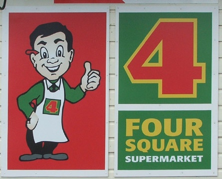 Mr Four Square - the iconic face of our 4 Square stores