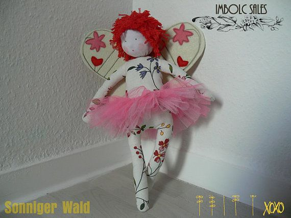 30 OFF SALE butterfly doll by SonnigerWald on Etsy, €28.00