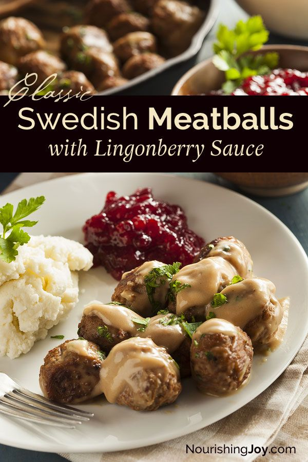 Swedish Meatballs: simple decadence at its best!