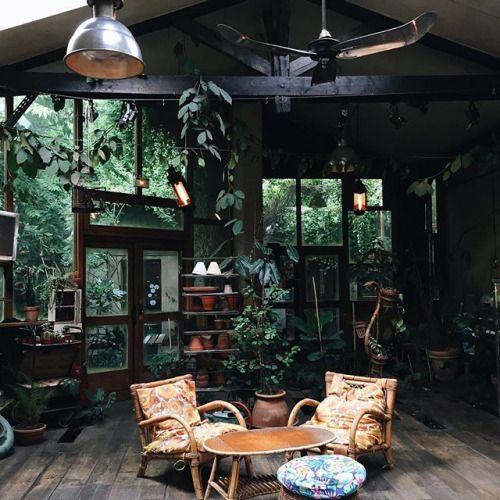 Interiordesign On Tumblr: Un Salon Au Style Jardin D'hiver Avec Une Ambiance Très