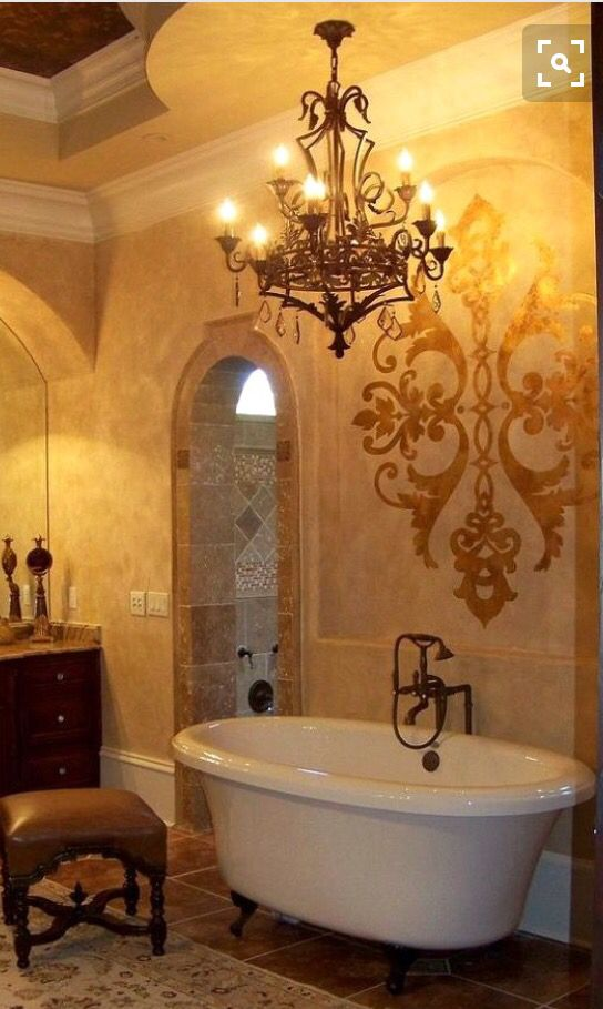 Tuscan style bath 349 best Bathrooms images