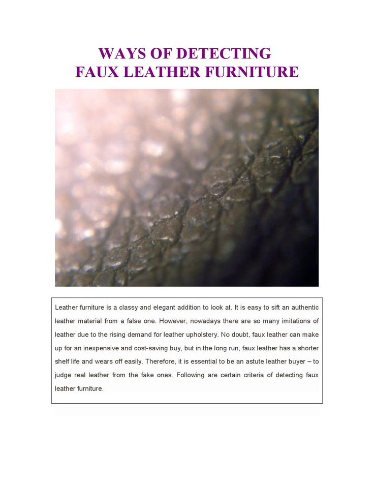 #Faux #leather might be an #inexpensive option to #buy rather than spending a fortune on #authentic #leather but the long-time benefits and feel of authentic leather #furniture is worth the #splurge! Read more to know why...