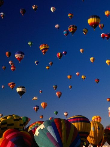 Mass Ascension at the Balloon Fiesta, Albuquerque, New Mexico, USA Photographic Print