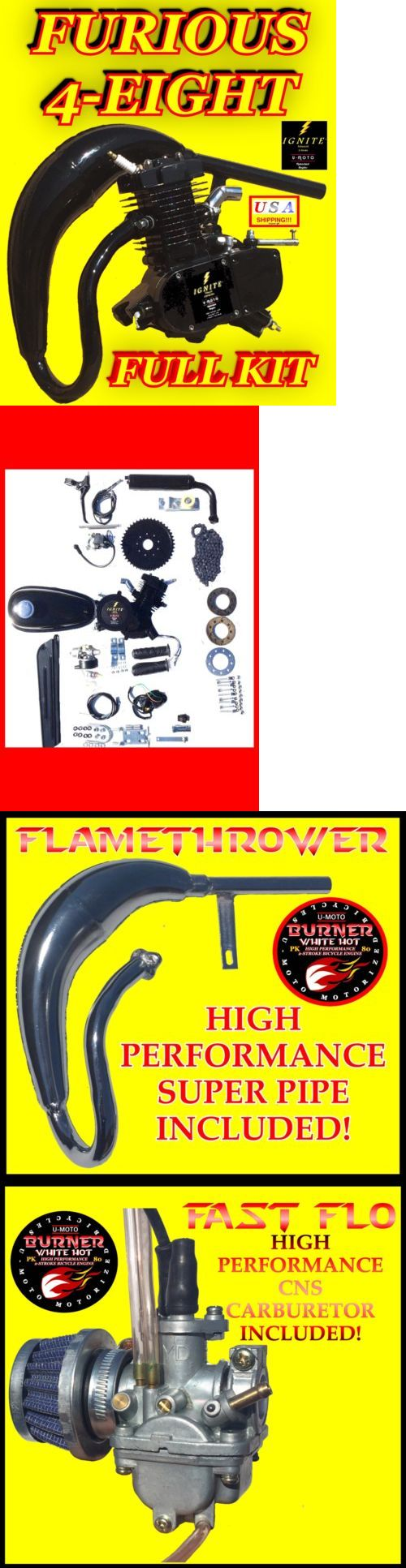 Gas Scooters 75211: High Performance Diy 48Cc 66Cc 80Cc 2-Stroke Complete Motorized Bike Kit -> BUY IT NOW ONLY: $199.99 on eBay!