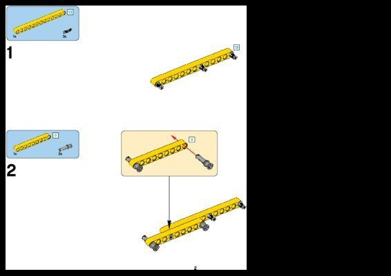 Istruzioni per la Costruzione - LEGO - Technic - 42006 - Escavatore gigante: Page 1