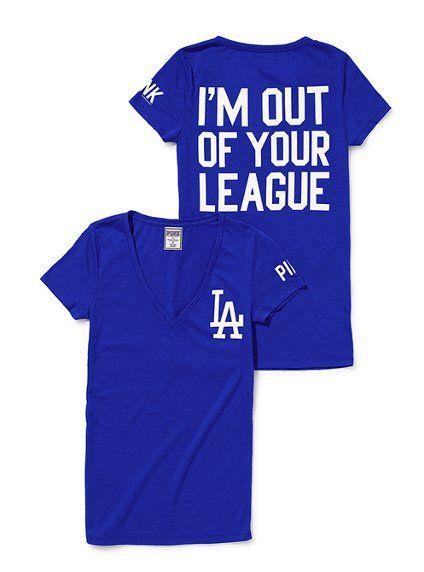 Oh yeah I am! ;)     Los Angeles Dodgers V-neck Tee - Victoria's Secret Pink® - Victoria's Secret