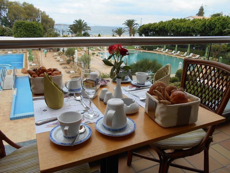 It's breakfast time!  Kick off the week with a delicious breakfast and incomparable sea views! - at Divani Apollon Palace & Thalasso  divaniapollonhotel.com