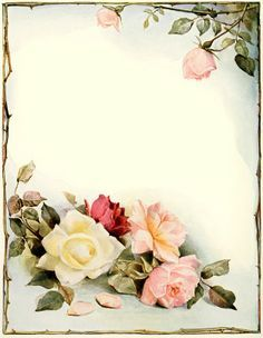printable flower stationery - Google Search