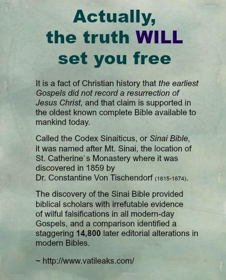 Sinai Bible: http://www.vatileaks.com/  Mormon no more. LDS no more. Quotes. Scripture study.