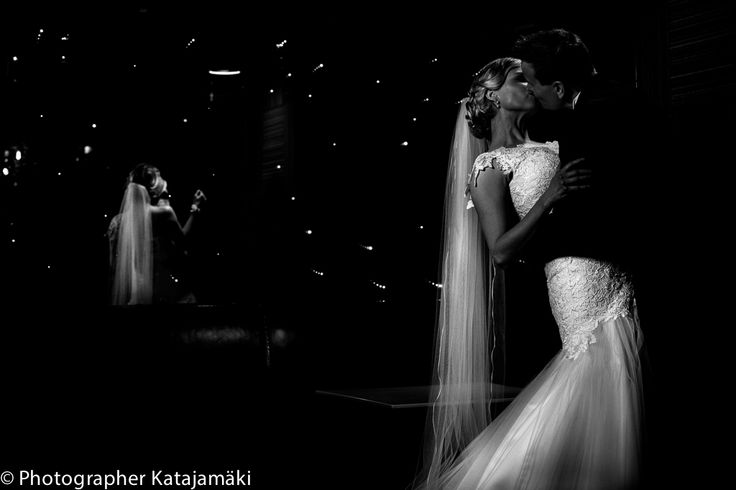Wedding Portrait in a night club Helsinki
