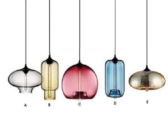 lampy wiszące Typ A Lampa szklana przezroczyste | Lampy