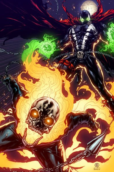 Spawn and GhostRider~Created by Alonso Espinoza