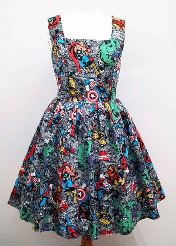 Or opt for a classic summer dress. | 18 Stylish Ways To Showcase Your Inner Geek This Summer... is it bad I would totally where these...