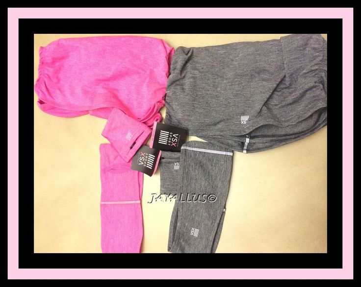 Victoria's Secret VSX Sport Head&Wrist Band Neck Warmer Runners 3pc set  #VICTORIASSECRETVSX