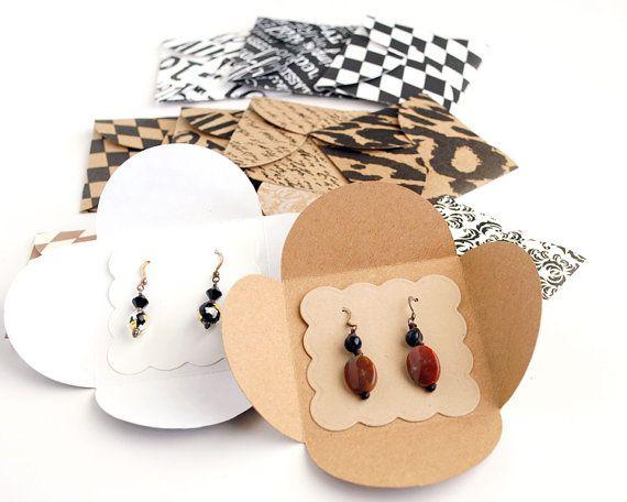 stilvolle Verpackungen für Ohrringe und Ketten