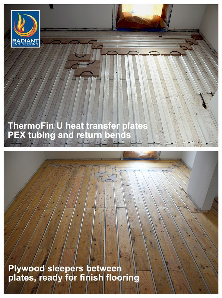 Radiant in-floor heating with ThermoFin extruded aluminum heat transfer  plates are the state of - 119 Best Heated Floors Images On Pinterest