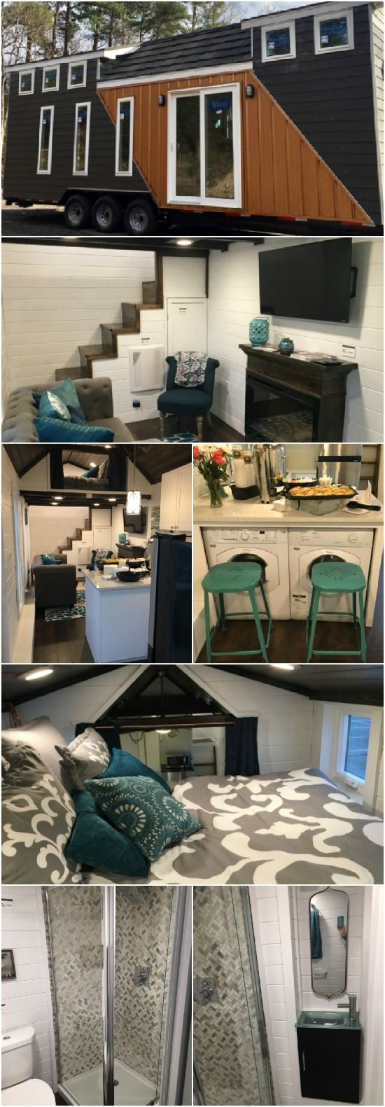 Alabama Builder Gives a Fresh Take on the Tiny House Movement with the Trinity Model - Meet Trinity. She's a 28 foot long 364 square foot tiny house built by Alabama Tiny Houses out of Mount Olive, Alabama. At first glance, you may think she doesn't have anything unique to offer, but wait until you see you the layout inside!