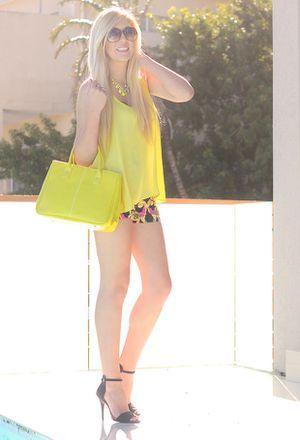 Look by @drhm1615 with #vestidos #short #primark #zara #faldas #party #sexy #heels #sandals #primavera #pantalones #streetstyle #neon #shorts #yellow #bags #oasap #amarillo #pool #fluor #look #jewelry.