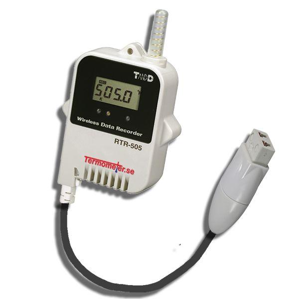 http://www.termometer.se/Logger-med-ingang-for-termoelement-givare.html  Logger med ingång för termoelement-givare - Termometer.se  Liten kompakt logger med LED display och ingång för termoelement Typ J, K, S och T. Temperaturmätområde -199°C till 1700°C (Beroende på typ av termoelement) Ljusterbar larmgräns med indikering från LED-lampa om larmgräns överträdes Max 16000 mätvärden sparas i loggern och dessa skickas till basstation för att kunna läsas av på PC Samplingsfrekvens 1 sekund...