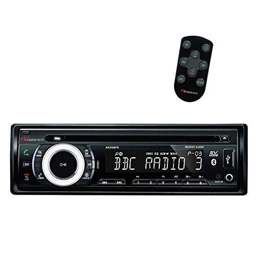 Nakamichi NA350iBTR CD Receiver with Bluetooth. 5v RCA Preamp Output. 1 amp Charging via USB.