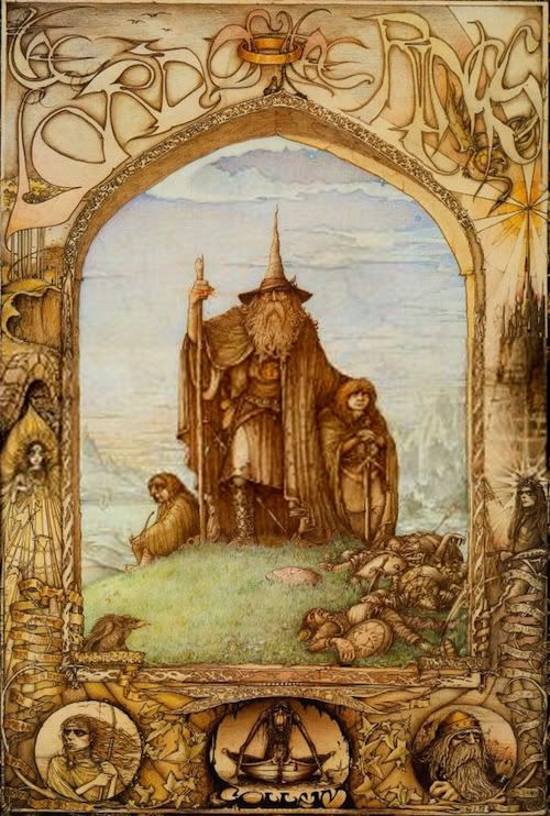 1970′s Lord of the Rings poster illustrated by 19 year old British artist, Jimmy Cauty.