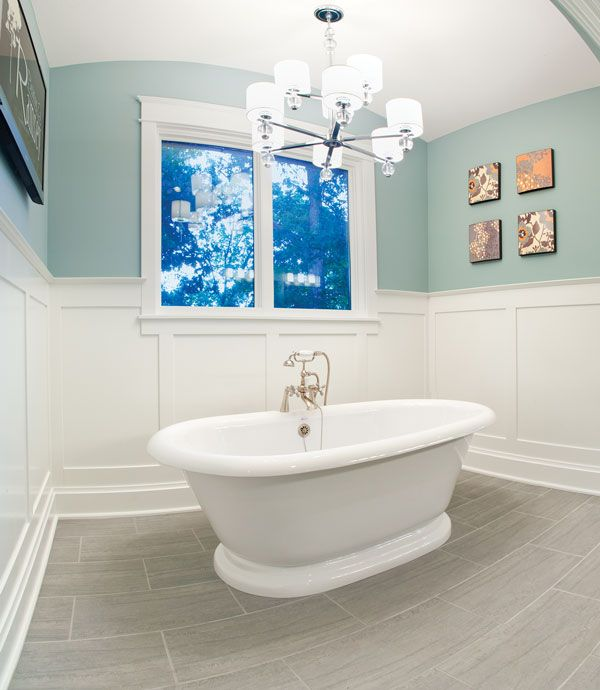 Blue Wainscoting: Blue Walls, White Wainscoting