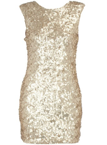 Gold sequined dress - Dorothy Perkins