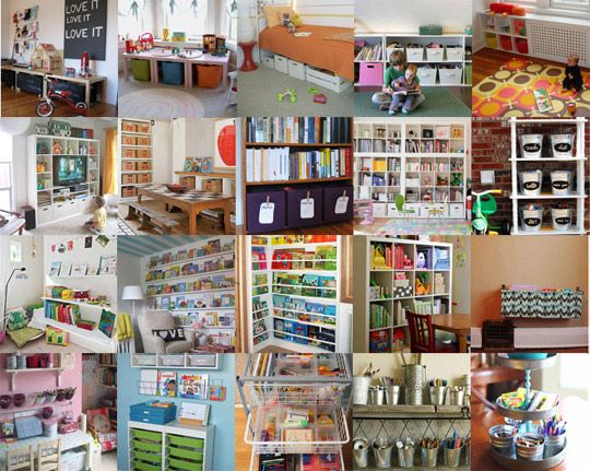 tons inspiration for playroom organizationToys Organic, Kids Stuff, Organic Ideas, Storage Storage, Kids Room, Playrooms Organic, 7 Day Toys, Storage Ideas, Toys Cure