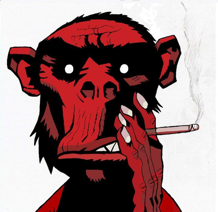 ('Gorillaz': Demon Days- Fire coming out of the monkeys head album image) 28/01/11