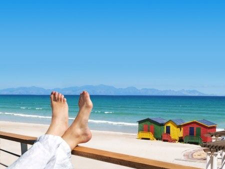 Self Catering Accommodation, Muizenberg, Cape Town  Its difficult to not relax with a view like this from the Whale Watchers Apartments
