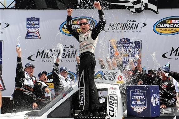 Johnny Sauter Grabs his First 2014 Series' Win and the Points Lead at Michigan | Fan4Racing  http://fan4racing.com/2014/08/16/johnny-sauter-grabs-his-first-2014-series-win-and-the-points-lead-at-michigan/