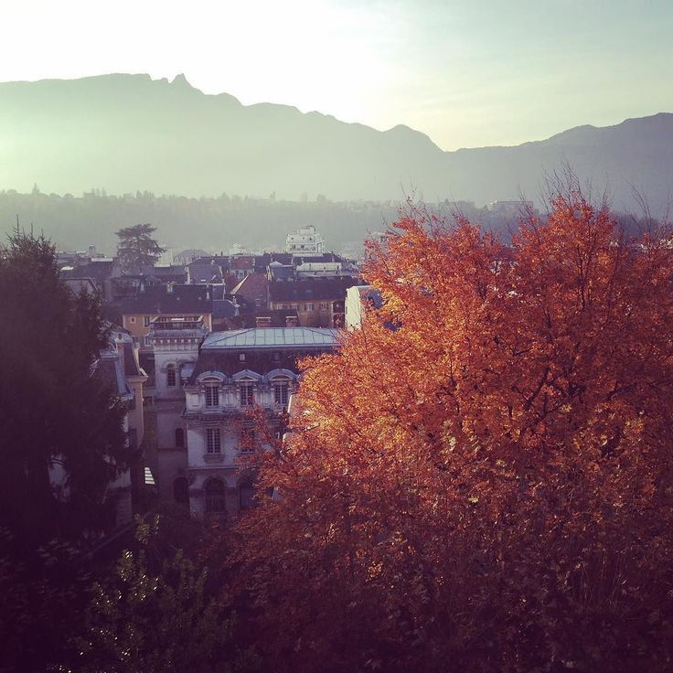 #thisview never gets old so nice to see the leaves changing reminds me of #home #getoutside #rooftop #instafall #landscape #france #aixlesbains #alpes #prettysky #savoie #thisismyday #igersfrance