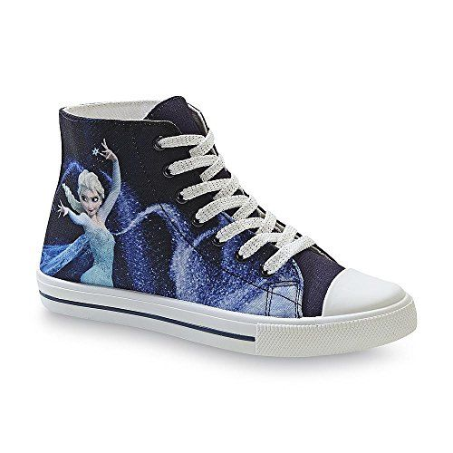 Disney Frozen Womens High Top Elsa Sneaker Shoe - Ice Queen (6)
