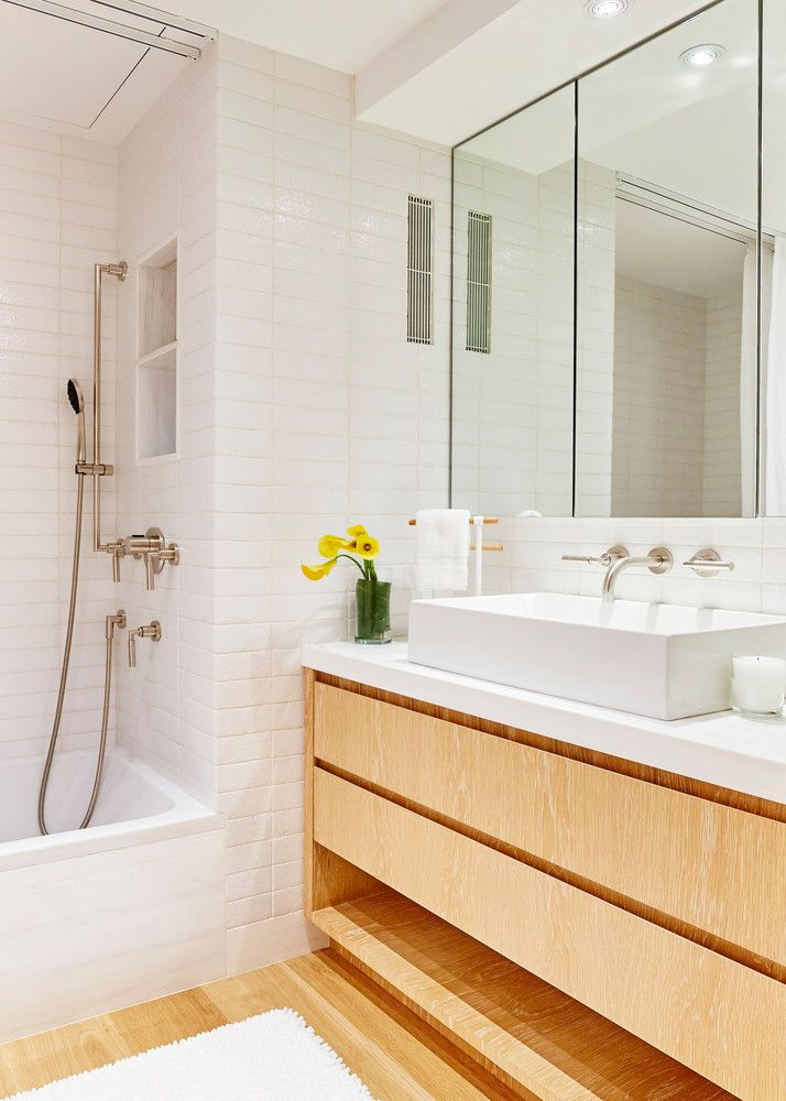 Minimalist Manhattan Condo Nyc Apartment Renovation Apartment Renovation Bathroom Design Small Modern Master Bathroom