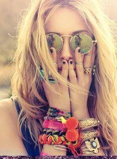 Got us thinking about Coachella-ella-ella.: Bracelet, Fashion, Hippie Style, Summer, Jewelry, Boho, Accessories, Sunglasses, Bohemian
