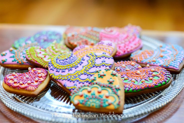 diy henna cookies for dessert would be awesome NO!?!? for mendhi night! Henna Decorated Cookies by Big Fat Indian Wedding-3 width=