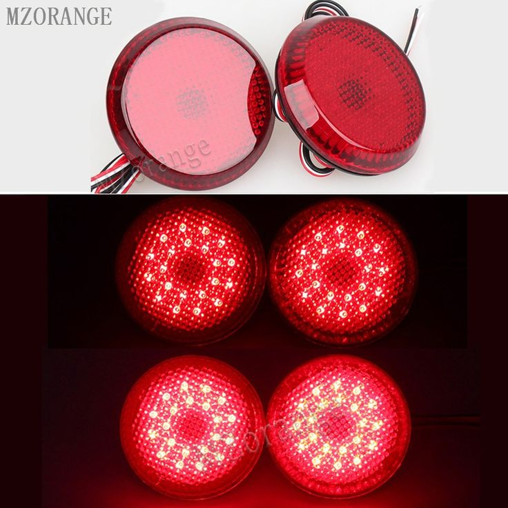 Buy online US $10.25  2 PCS 6.8 cm Car Tail Rear Bumper Reflector Lamp Round For Nissan/Qashqai/for Toyota Sienna/Corolla Scion Trail Brake Stop Light