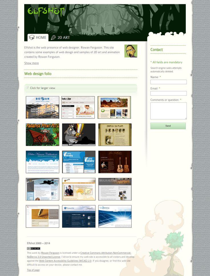 An older version of Elfshot | from Elfshot Web Design Folio