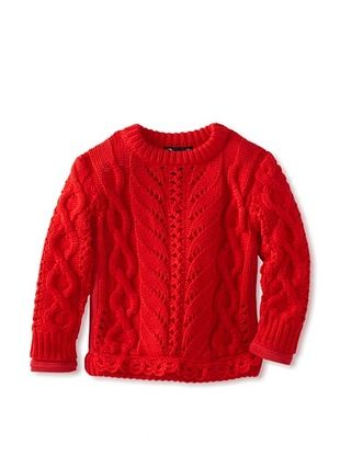 81% OFF A For Apple Girl's Johanna Ho X A For Apple Cable Sweater (Red)