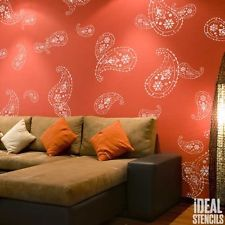 Almora Indian Paisley STENCIL Wall DECOR Painting Craft Art Reusable FREE post