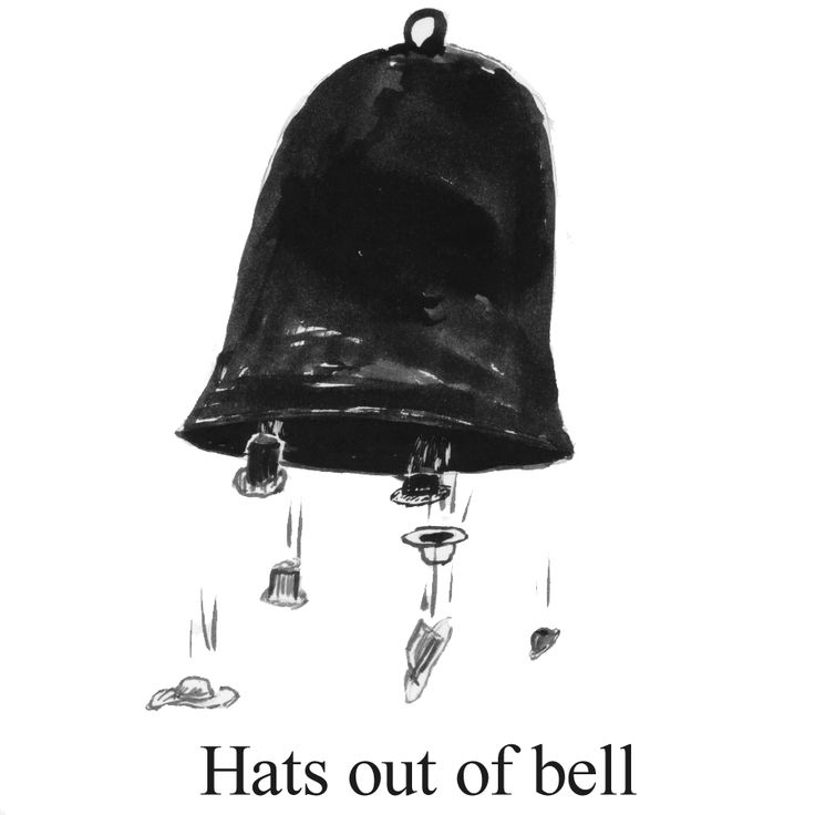Hats out of bell.